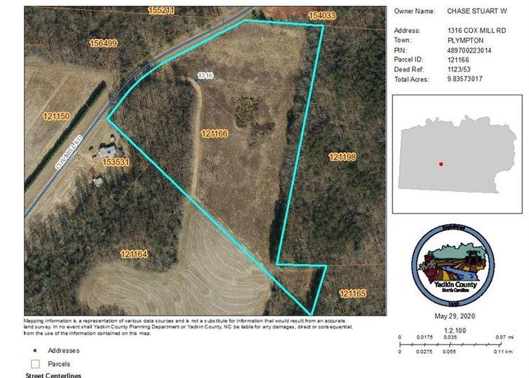 1316 Cox Mill Road Yadkinville, NC 27055